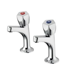 Armitage Shanks Sandringham 21 Kitchen Sink High Neck Pillar Taps - Chrome AS10140
