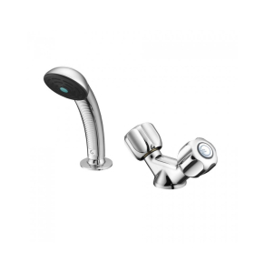 Armitage Shanks Starlite Dual Control Hairdressers Basin Mixer Tap with Flexible Hose (2 Tap Hole) - S7450AA AS10169