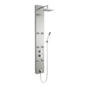Nuie Shower Panels Stainless Steel Contemporary Easton Thermostatic Panel - AS374 AS374