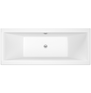 Nuie Asselby White Contemporary Square Double Ended Bath 1700x700 - NBA209 NBA209