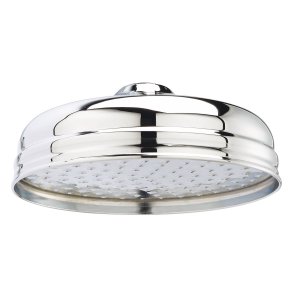 Bayswater Traditional 8 Inch Apron Fixed Shower Head Chrome BAY1181