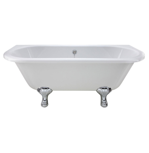 Bayswater Courtnell Back-to-Wall Freestanding Bath 1690mm x 750mm BAY1061