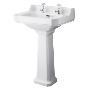 Bayswater Fitzroy Basin with Full Pedestal 560mm Wide 2 Tap Hole BAY1007