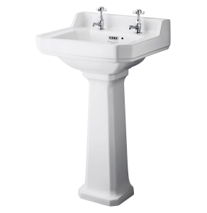 Bayswater Fitzroy Basin with Large Full Pedestal 500mm Wide 2 Tap Hole BAY1014