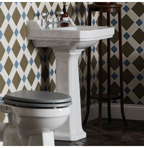 Bayswater Fitzroy Basin with Full Pedestal 500mm Wide 1 Tap Hole BAYPK001