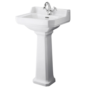Bayswater Fitzroy Basin with Full Pedestal 500mm Wide 1 Tap Hole BAY1001