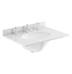 Bayswater Grey Marble Top Furniture Basin 600mm Wide 3 Tap Hole BAY1126