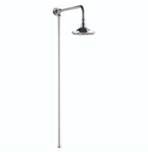Bayswater Standard Rigid Riser Shower Kit with Fixed Head Chrome BAY1101