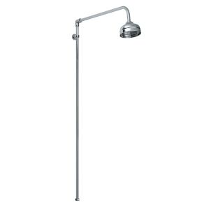 Bayswater Plain Rigid Riser Shower Kit with Fixed Head Chrome BAY1097