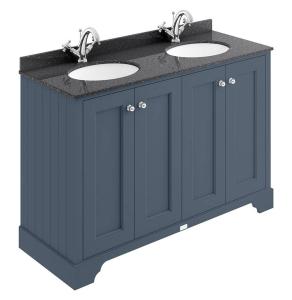 Bayswater Stiffkey Blue 4-Door Vanity Unit 1200mm Wide (excluding Basin) BAY1031