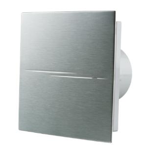Blauberg Calm Design Hi Tech Low Noise Energy Efficient Bathroom Extractor Fan Chrome 100mm Humidity BLA10005