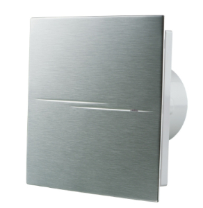Blauberg Calm Design Hi Tech Low Noise Energy Efficient Bathroom Extractor Fan Chrome 100mm Pull Cord & Timer BLA10024