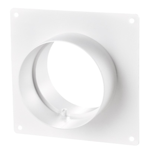 """Blauberg Ventilation Round Circular Ducting Wall Mounting Plate with Spigots - 100mm 4"""" BLA10106"""