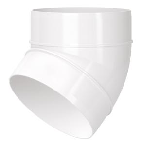"Blauberg Circular Round Plastic Ventilation Duct 45 Degree Elbow Bend - 5"" 125mm BLA10159"