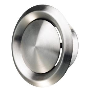 "Blauberg Stainless Steel Circular Ceiling Air Valve Disc Vent - 100mm 4"" Dia BLA10109"