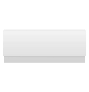 Nuie Classic Bath Panels Gloss White Contemporary Front Panel & Plinth (1600mm) - BPR103 BPR103