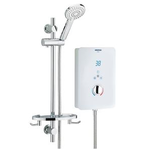 Bristan Designer Bliss Electric Shower, 8.5kw, White BL385 W