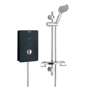 Bristan Designer Bliss Electric Shower, 8.5kw, Black BL385 B
