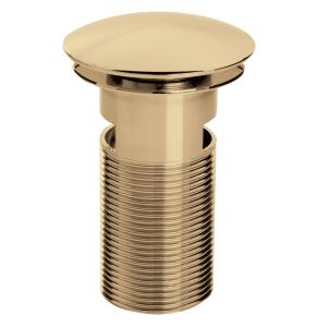 Bristan Round Clicker Basin Waste Gold - Slotted W BASIN04 G