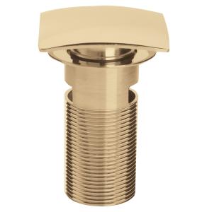 Bristan Square Clicker Basin Waste Gold - Slotted W BASIN06 G