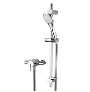 Bristan Sonique Thermostatic Surface Mounted Shower Valve with Adjustable Riser Kit Chrome SOQ2 SHXAR C