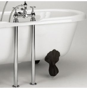 Bristan Traditional 26 Inch Bath Tap Stand Pipes, Pair, Gold LEG G