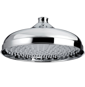 Bristan Traditional Fixed Shower Head, 300mm Diameter, Chrome FH TDRD03 C