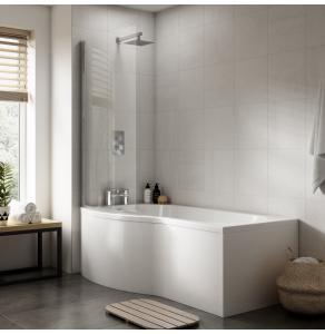 Nuie Bath Panels White Contemporary Shower Front Panel (1700mm) - WBB200 WBB200
