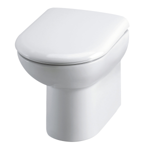 Nuie Lawton White Contemporary Back To Wall Pan - Back To Wall 005 BTW005