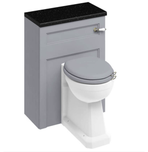 Burlington 60 Fitted Back to Wall WC Unit with Concealed Cistern 600mm Wide In Grey - W60G BU10910