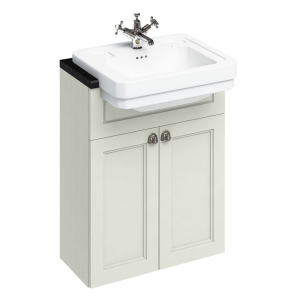 Burlington 60 Fitted Semi-Recessed Vanity Unit and 1TH Basin, 600mm Wide, Sand BU10461