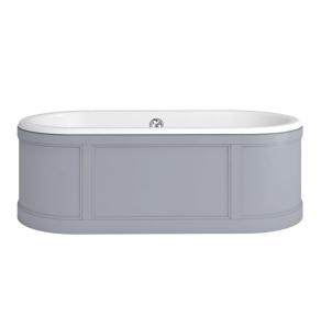 Burlington London Curved Surround Acrylic Bath 1800mm x 850mm In Grey - E22G BU10499