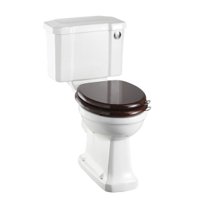 Burlington Regal Close Coupled Toilet Slimline Push Button Cistern - Excluding Seat BU10021
