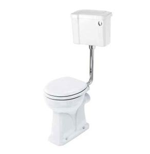 Burlington Regal Low Level Toilet Slimline Push Button Cistern - Excluding Seat BU10031