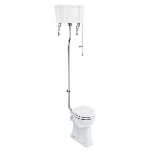 Burlington Regal High Level Toilet White Ceramic Cistern - Excluding Seat BU10037