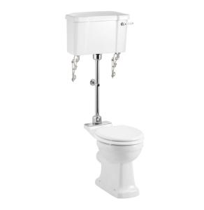 Burlington Rimless Low Level Toilet Lever Cistern - Excluding Seat BU10052