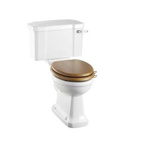 Burlington Rimless Close Coupled Toilet Slimline Lever Cistern - Excluding Seat BU10047