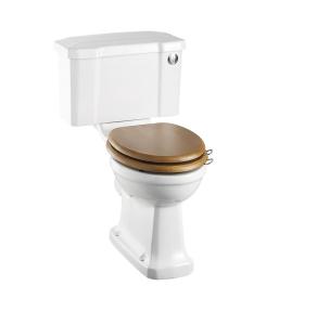 Burlington Rimless Close Coupled Toilet Slimline Push Button Cistern - Excluding Seat BU10049