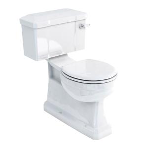 Burlington S-Trap Close Coupled Toilet Lever Cistern - Excluding Seat BU10009