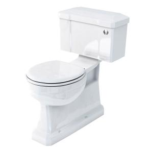 Burlington S-Trap Close Coupled Toilet Push Button Cistern - Excluding Seat BU10013