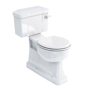 Burlington S-Trap Close Coupled Toilet Slimline Lever Cistern - Excluding Seat BU10012