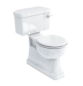 Burlington S-Trap Close Coupled Toilet Deep Ceramic Lever Cistern - Excluding Seat BU10028
