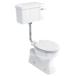 Burlington S-Trap Low Level Toilet Slimline Lever Cistern - Excluding Seat BU10025