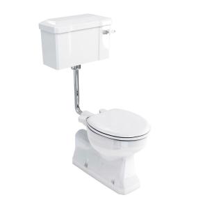 Burlington S-Trap Low Level Toilet Ceramic Lever Cistern - Excluding Seat BU10034