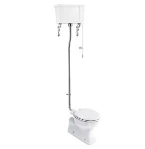 Burlington S-Trap High Level Toilet White Ceramic Cistern - Excluding Seat BU10036