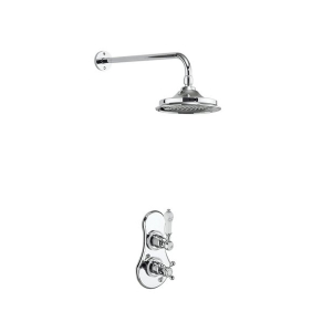 Burlington Severn Dual Concealed Mixer Shower, 12inch Fixed Head BU10666