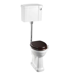 Burlington Standard Low Level Toilet Push Button Cistern - Excluding Seat BU10015