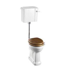 Burlington Standard Low Level Toilet Slimline Lever Cistern - Excluding Seat BU10014