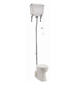 Burlington Standard High Level Toilet White Aluminium Cistern - Excluding Seat BU10040