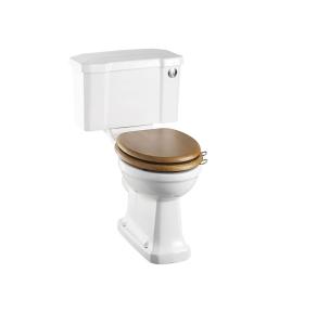 Burlington Standard Close Coupled Toilet Push Button Cistern - Excluding Seat BU10006
